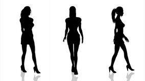 Silhouette of woman stock footage