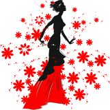 Silhouette of woman Royalty Free Stock Photos