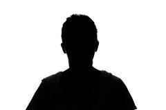 Silhouette woman portrait Stock Images