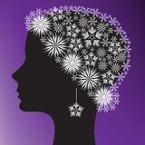 Silhouette of a woman's head Royalty Free Stock Images