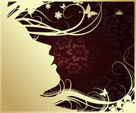 Silhouette of a woman's profile Royalty Free Stock Images