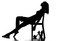 Silhouette of a woman Royalty Free Stock Images