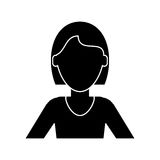 Silhouette woman short hair ethnicity Royalty Free Stock Images