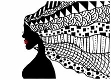 Silhouette of a woman Stock Photos