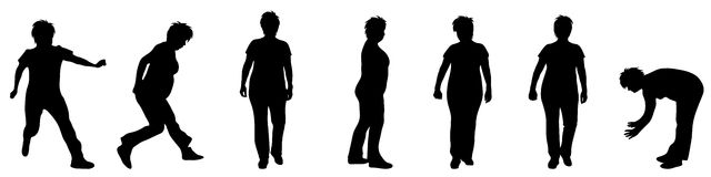 Silhouette of woman Stock Photography