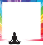 Silhouette of a woman yoga figure Royalty Free Stock Photography
