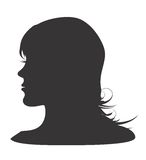 Silhouette of womans head Royalty Free Stock Photos