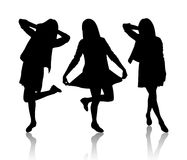 Silhouette of women Royalty Free Stock Photos