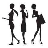 Silhouette of women Royalty Free Stock Photography
