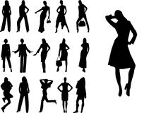 Silhouette women Royalty Free Stock Photography