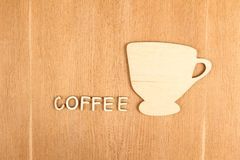 Silhouette of a wooden cup Royalty Free Stock Photo