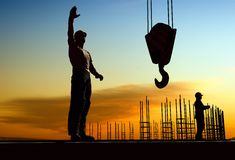 Silhouette of a worker Royalty Free Stock Images
