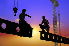 Silhouette of a worker Royalty Free Stock Photo