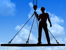 Silhouette of a worker Royalty Free Stock Photography
