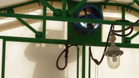 Silhouette of worker Metal framework stock video footage