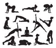 Free Silhouette Yoga Poses Stock Image - 32456491