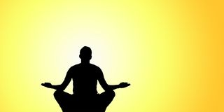 Silhouette of Yoga at summit Royalty Free Stock Image