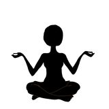 Silhouette yoga, vector Royalty Free Stock Photography