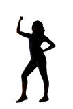 Silhouette of young Asian woman pose Royalty Free Stock Image