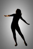 Silhouette of young Asian woman Royalty Free Stock Photography
