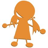 Silhouette of young girl Royalty Free Stock Photo