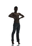 Silhouette of a young man dancer  Royalty Free Stock Photography
