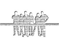 Silhouette young people. Illustration of young people silhouette with words in background vector illustration