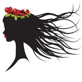Silhouette of young woman Royalty Free Stock Image