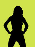 Silhouette of a young woman. Silhouette of a young posing woman Royalty Free Stock Image