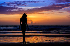 Silhouette young woman Royalty Free Stock Image