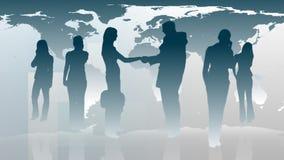 Silhouetted бизнесменов 1