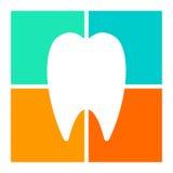 Silhouetted значок зуба Стоковое Изображение RF