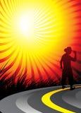 silhouetted ковбой бесплатная иллюстрация