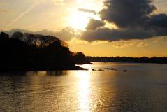 Silhouetted побережье Новой Англии стоковая фотография