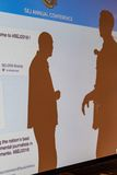 Silhouetted Attendees at 2016 SEJ Conference Sacramento Royalty Free Stock Images