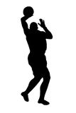 Silhouetted basketball player Royalty Free Stock Photography
