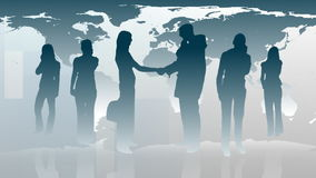 Silhouetted of Business People 1