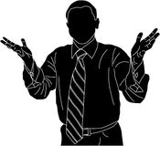 Silhouetted businessman royalty free stock photography