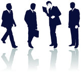 Silhouetted businessmen Royalty Free Stock Image