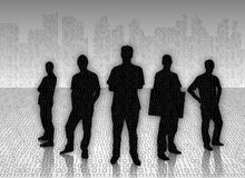 Silhouetted businessmen Stock Images