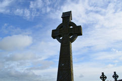 Silhouetted Celtic Crosses in Ireland Stock Photography