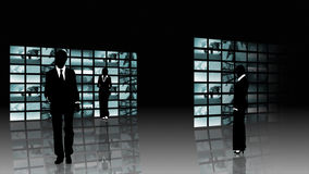 Silhouetted concept of teamwork Stock Images