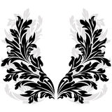 Silhouetted floral garland Royalty Free Stock Images
