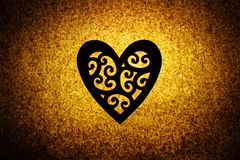 Silhouetted floral heart Royalty Free Stock Photography