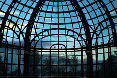 Silhouetted glass wall Stock Image