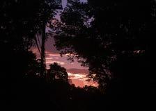 Silhouetted himmel Arkivbild