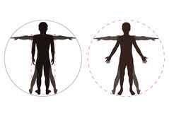 Silhouetted human body Stock Images