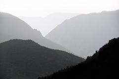 silhouetted kanjon Arkivfoton