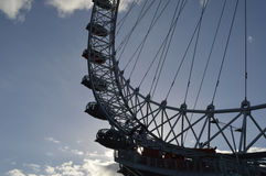 The silhouetted London eye Stock Images