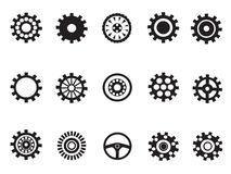 Silhouetted  of Machine Gear Stock Photography